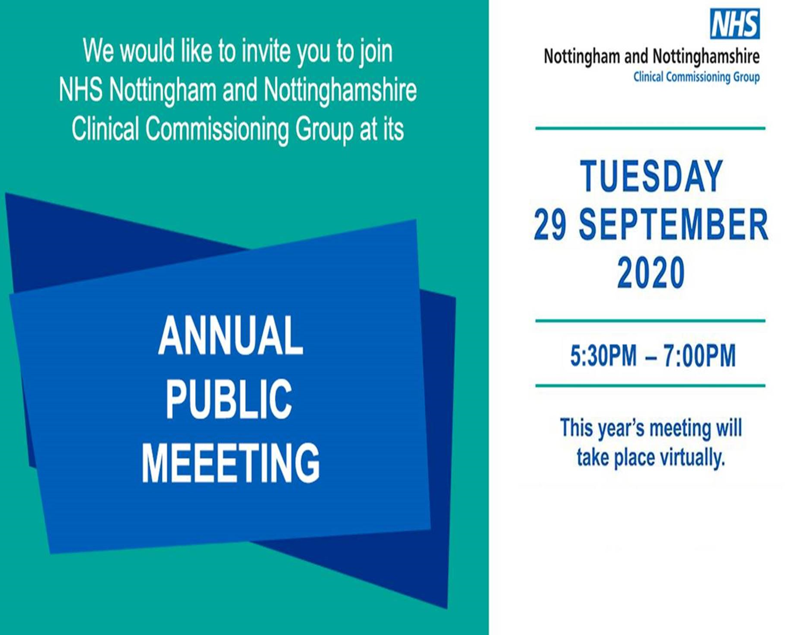 NHS Nottingham and Nottinghamshire CCG Annual Public Meeting